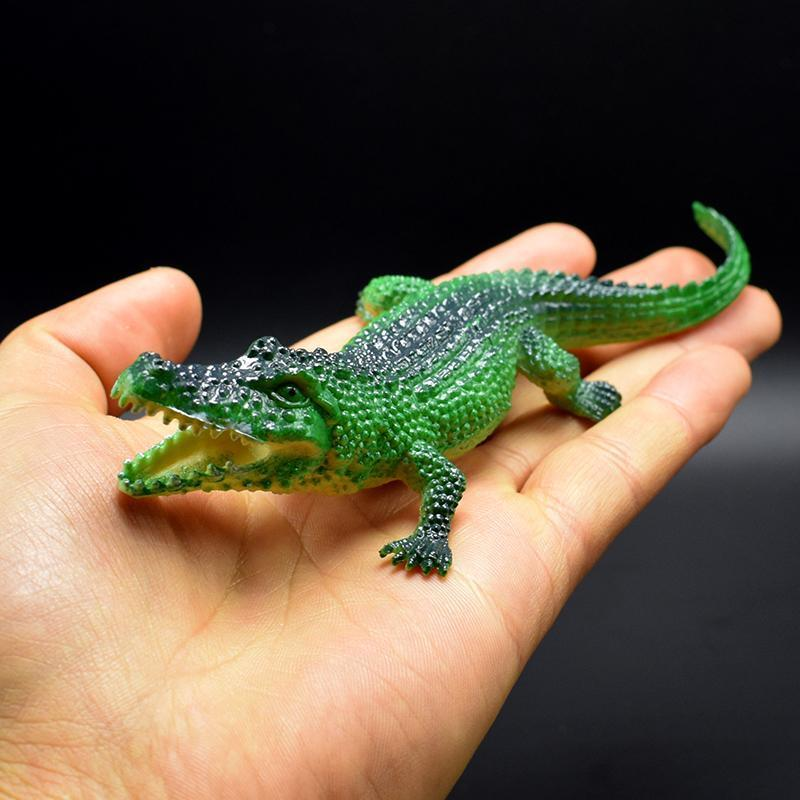 1100pcs/lot 4kinds 7CM alligator toy Lifelike Simulation Animals crocodile Model Action Figure Toy