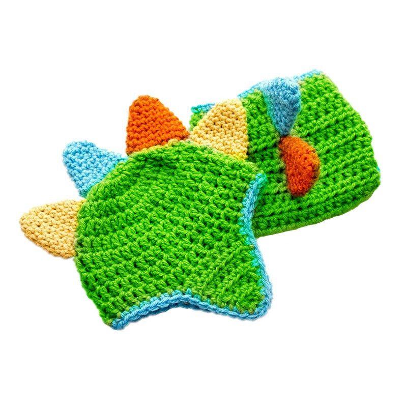 Новорожденный наряд монстров, ручной вязки крючком Baby Boy Girl Monster Hat Подгузник Набор, хеллоуин костюм, детские фото опора для душа подарки