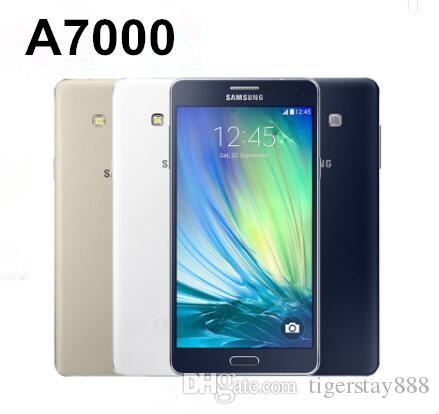 재조정 된 원래 삼성 갤럭시 A7 A7000 듀얼 Sim 잠금 해제 Octa 코어 2GB / 16GB 5.5 인치 13MP 4G LTE 휴대 전화