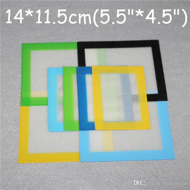 100pcs 실리콘 왁스 패드 평방 드라이 허브 매트 배럴당 드럼 26ml 실리콘 오일 매트 대나무 도구 사각형 베이킹 매트