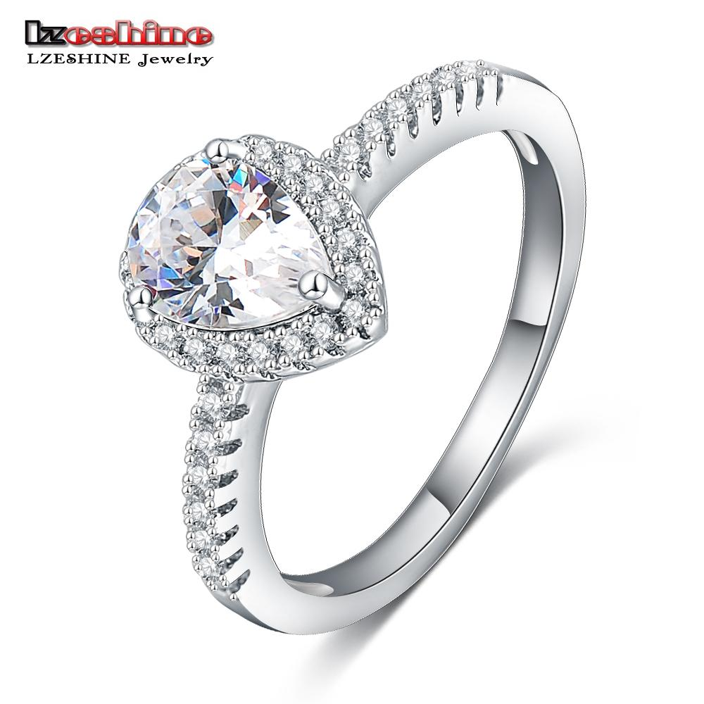 2019 Lzeshine Aanniversary Bands Pear Shape Cz Engagement Ring For