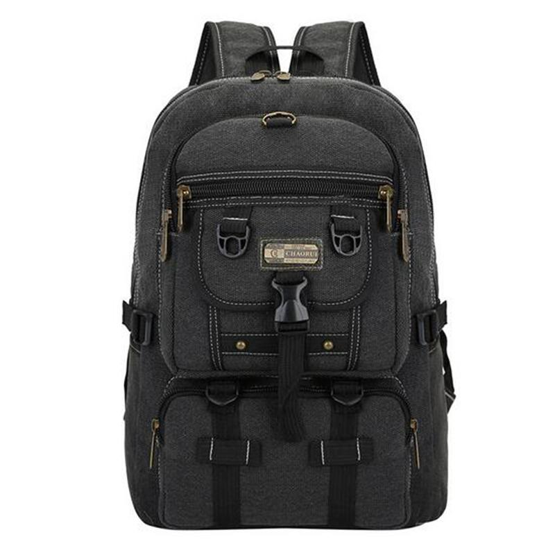 TOP POWER Men Bag Big Fashion Canvas Backpacks For Men Travel Large Capacity Arcuate Shoulder Strap Zipper Solid Male Backpack