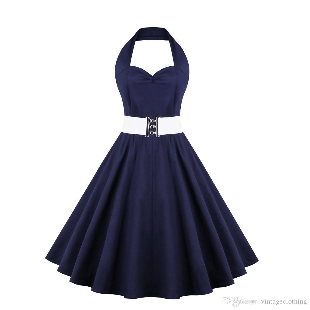 여름 레드 빈티지 여성 드레스 Feminino Rockabilly 핀 격자 무늬 꽃 민소매 드레스 Vestidos 플러스 크기 S-4XL