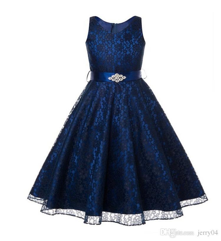 2018 새로운 도착 꽃 소녀 드레스 웨딩 및 파티 9 색 신부 들러리 여자 옷 여름 Pirncess 드레스 여자