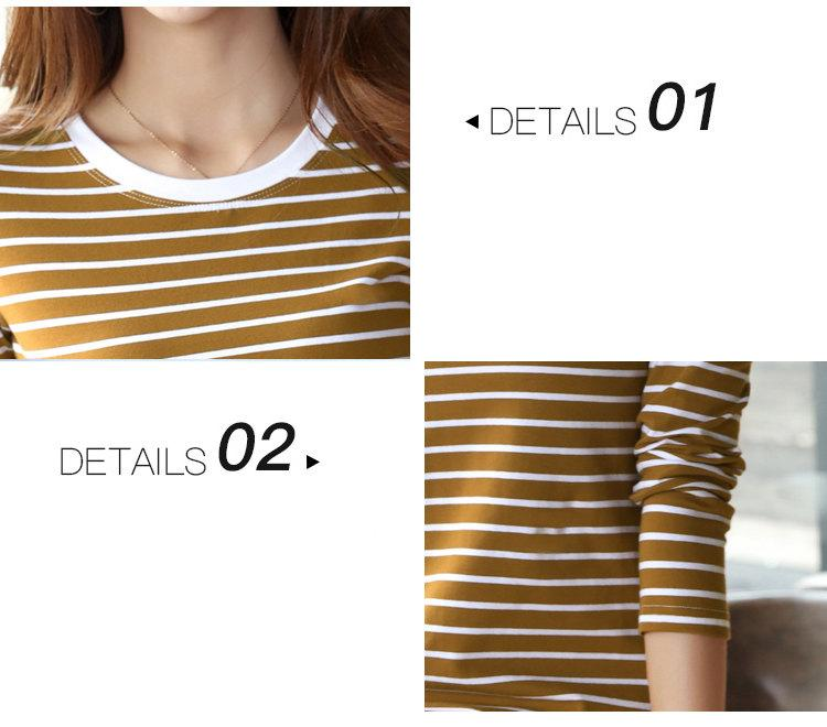Autumn Winter Striped T-shirt Women Casual Plus Size Tops Tees Femme Long Sleeve Women Cotton Tshirt Camisetas Mujer 2019 (12)