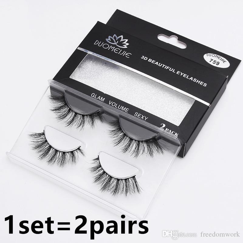 Hurtownie 16styles Najwyższej jakości Fałszywe rzęsy Curled Eyelaski Fałszywe rzęsy 3D Mink 1set = 2 par Darmowa wysyłka przez DHL
