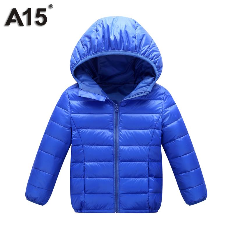 A15 Kids Winter Jacket for Girl 2017 Infant Toddler Boy Jacket Teens Clothes Children Warm Outerwear Coat Age 3 10 12 14 16 Year