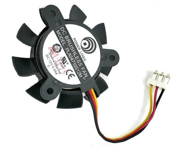 PLA04710S12M 37mm diameter 25 mm pitch 12v 0.09a 3 lijnen grafische radiator fa