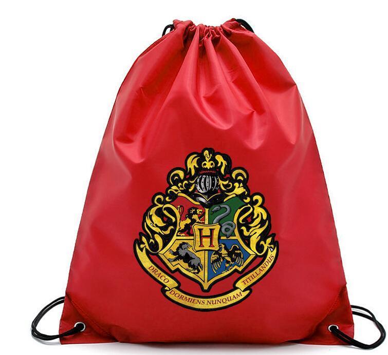 Harry Potter Sacos de Bolso Com Cordão Moda Escola Bolsa de Lona Mochilas Harry Potter sacos de Compras Bolsa 4 design KKA5752