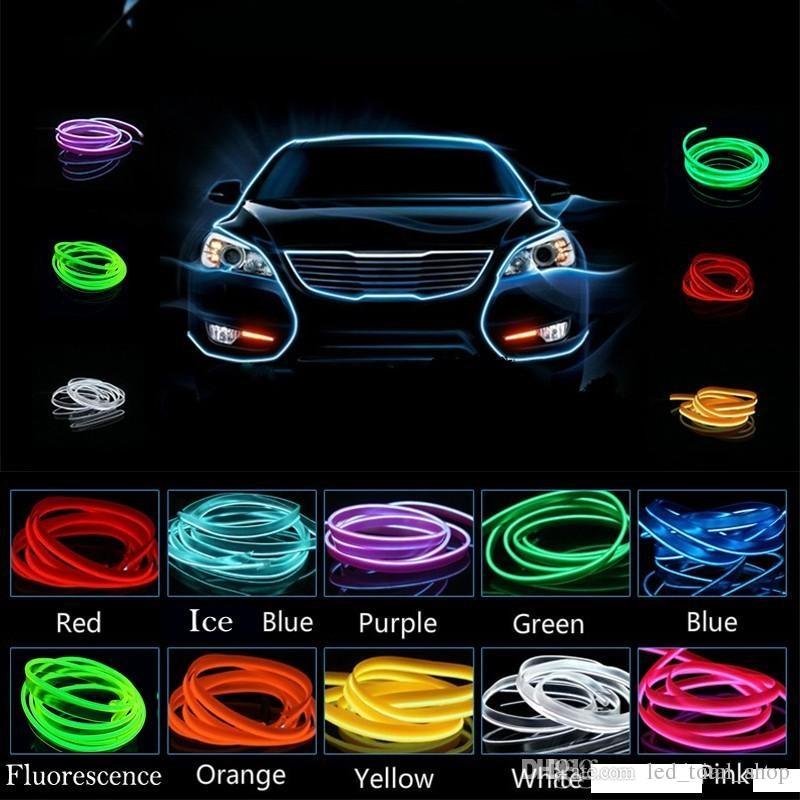 Auto un'atmosfera leggera 2M 12V Luce fredda Wire Neon Lamp Decor Accessori per Honda CRV civico accordo in forma città Spirior DRL