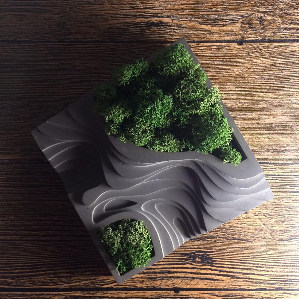 Concrete Silicone Mold House Muti-Meat Flower Planter Mold Desktop Decor