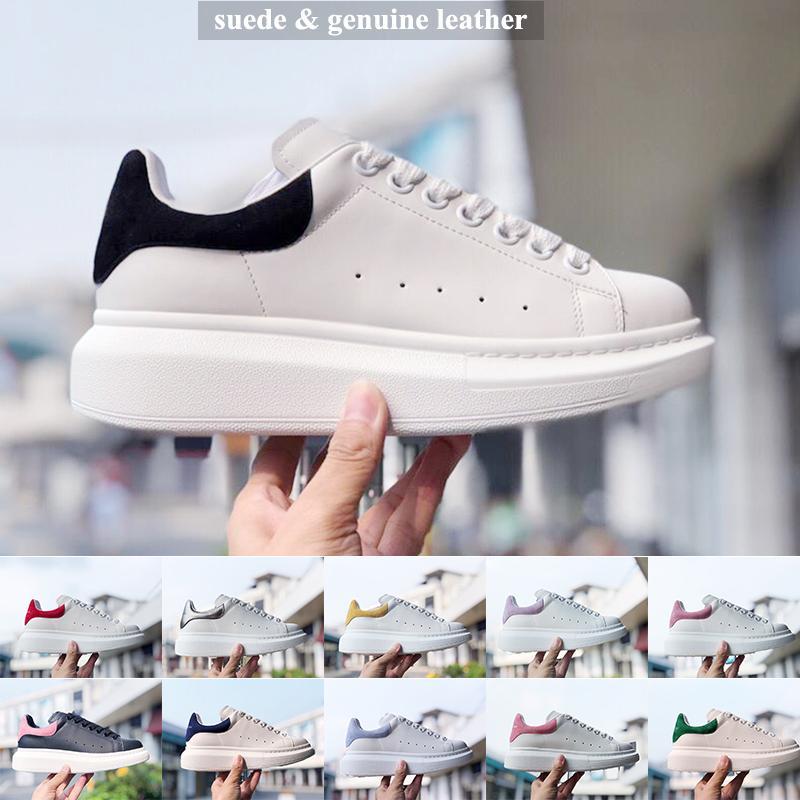 2019 SNEAKER OVERSIZED del nuovo marchio di design con ampi lacci piatti e suola in gomma di grandi dimensioni Sneaker SNEAKER in pelle scamosciata di marca