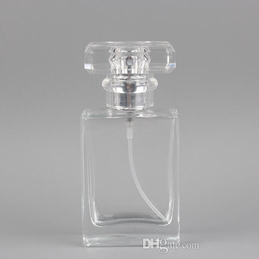 Atomizzatore riutilizzabile della bottiglia vuota del profumo di vetro portatile 30ML con la cassa cosmetica di alluminio per la bottiglia di vetro dello spruzzo di viaggio