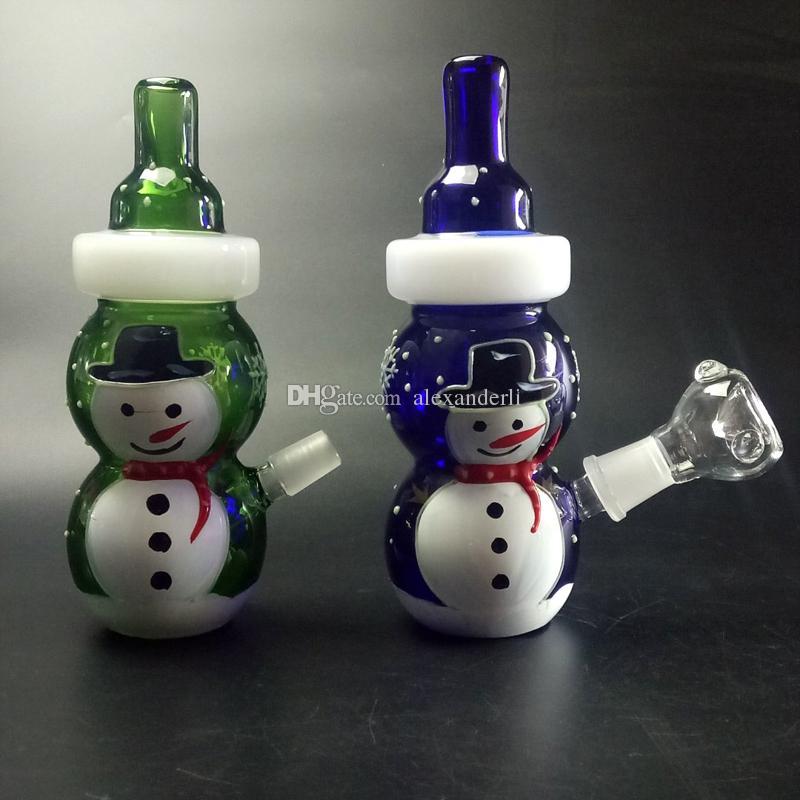 Quemador de aceite Bongs de vidrio Animal Bubber Pipa de agua ART WITH BANGER Concentrado Concentrado Dabber Mini Bong de vidrio con recipiente de vidrio