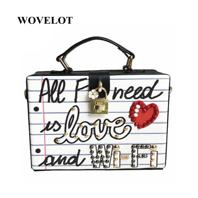 LJL Fashion Brief Diamanten Perle Nieten Box Form Casual weibliche Handtasche Kleine Square Pack Schultertasche Crossbody Paket Kupplung Y18102503