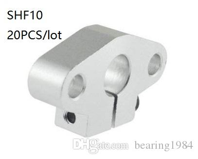 20pcs SHF10 10mm Flange Mount Linear Rail Shaft Support Linear Rod shaft Support
