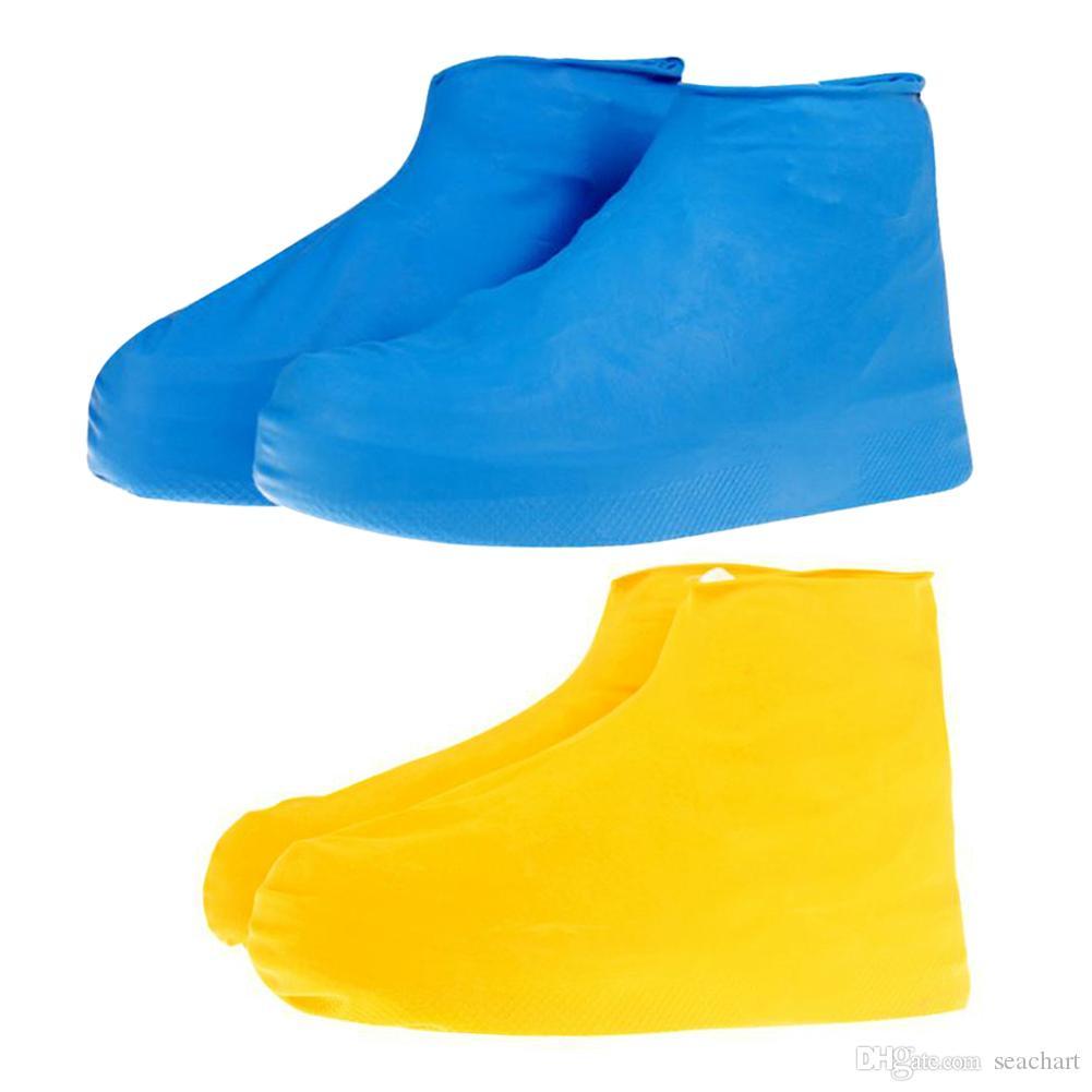 الرجال النساء أحذية للماء عدم الانزلاق reusable المعطف مجموعة معطف المطر الأحذية الأحذية غطاء زلة مقاومة الأحذية الملحقات تعزيز SC094