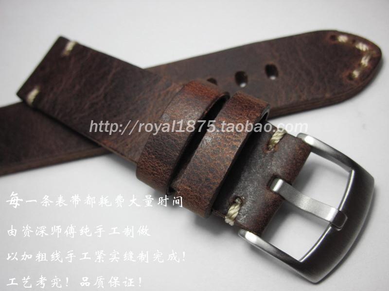 2019 Nueva correa de pulsera de reloj de la vendimia pulseras correa de reloj de cuero genuino de las correas de 18 mm 19 20 21 accesorios pulsera 22mm