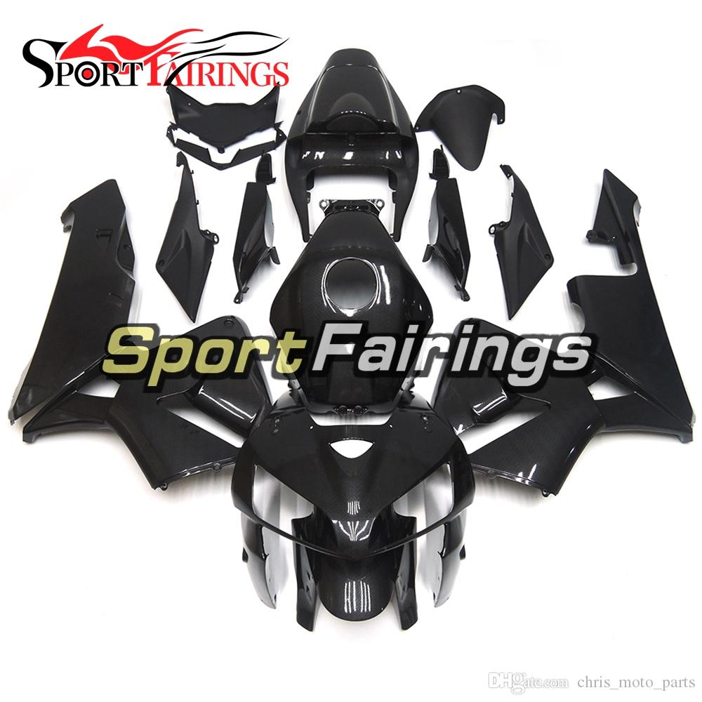 Carbon Fiber Effect Black Fairings For Honda CBR600RR F5 2005 - 2006 Complete plastic Bodywork Motorcycle High Quallity CBR600RR Hulls
