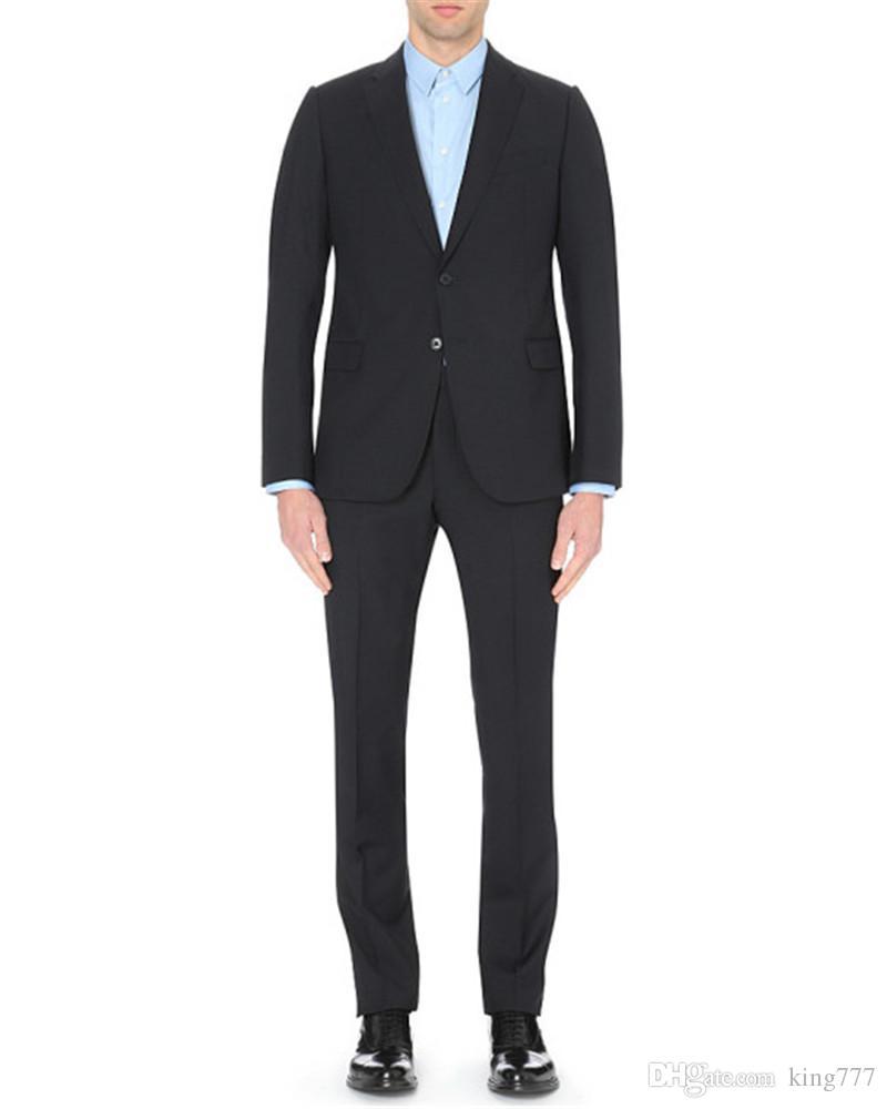 ¡hecho a medida! Traje de traje de hombre delgado de negocios de solapa de gama alta adecuado para el vestido de padrino de boda del novio (chaqueta + pantalón + chaleco)