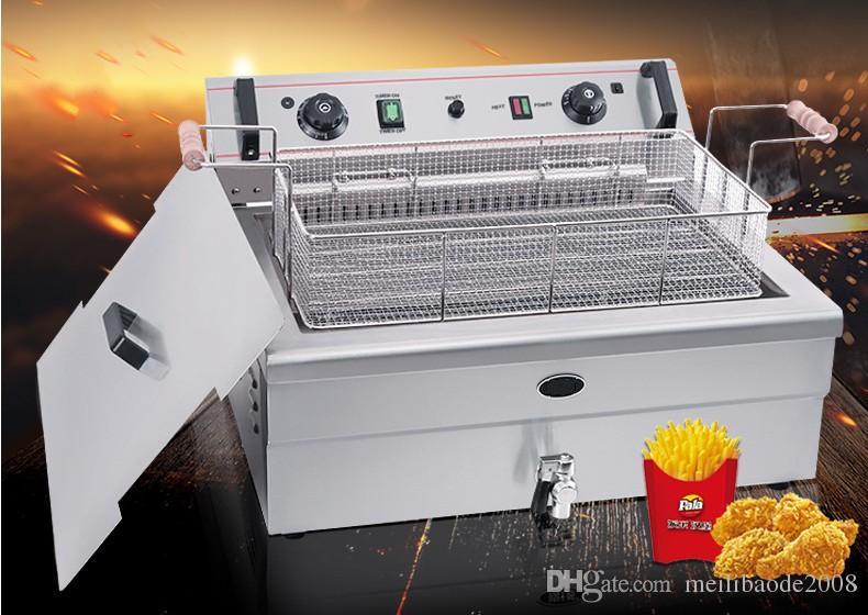 20L Grand Électrique Friteuse Profonde Machine Chinois Donut Friteuse Puce Friteuse De Pommes De Terre Friture Machine Commerciale kfc Poulet Friture Machine LLFA