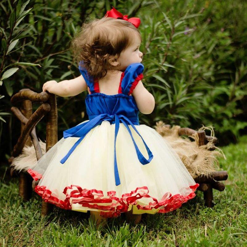 هالوين الثلج الأبيض اللباس للأطفال الرضع طفل رضيع عيد الميلاد حزب اللباس فتاة مخصص تأثيري الملابس نقطة القوس تنورة