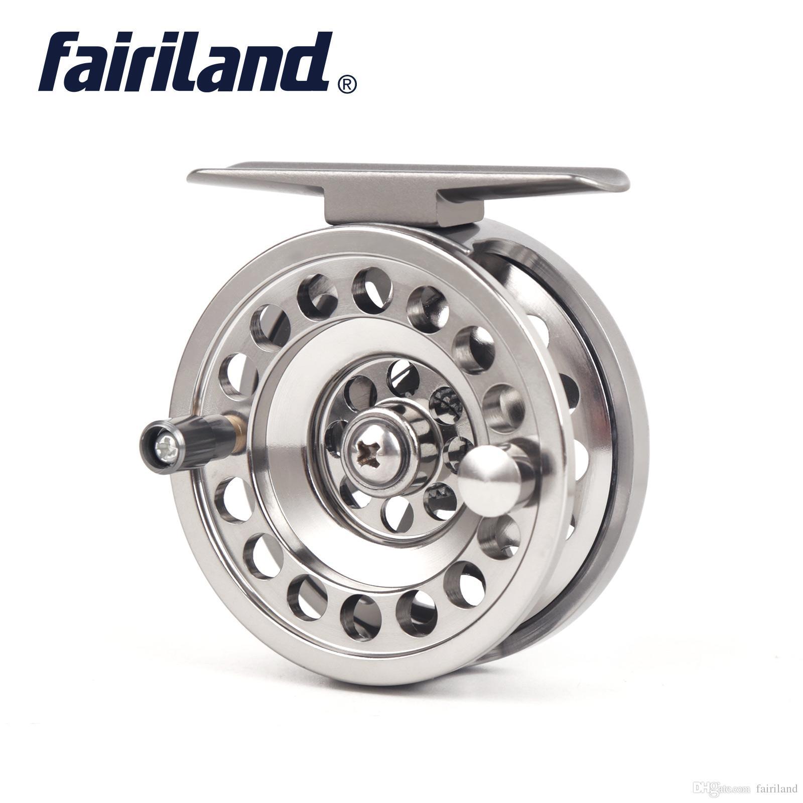 2018 Nueva Llegada Carrete de Pesca en Hielo Fairiland 2BB + RBB Carretes de pesca de aluminio 1: 1 Full Left / Right Handed Ice Fishing Wheel carrete de la mosca