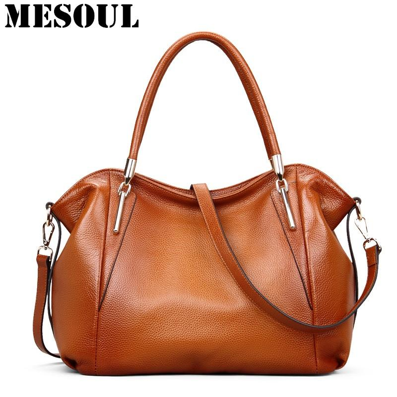 Großhandel Vintage Frauen Handtaschen Weiche Echtes Leder Tote Umhängetasche Hohe Qualität Kuh Leder Umhängetaschen Weiblich Braun Handtasche Von