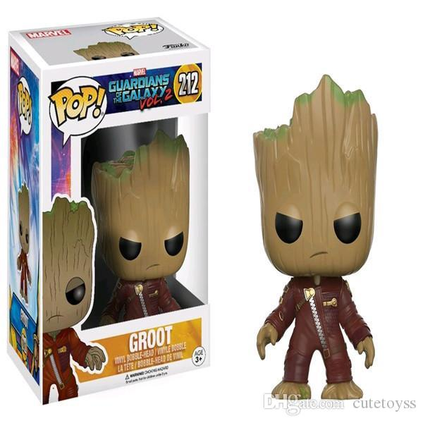 WHOLESALE Funko POP groot tree Vinyl Action Figure With Box Toy for childrens gift hot sell Doll Good Quality