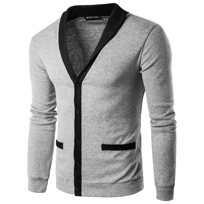 Человек свитер 2017 Новая весна повседневная мужчины пуловер V воротник толстые кашемировый свитер на открытом воздухе верхняя одежда марка одежды одной груди L18100803
