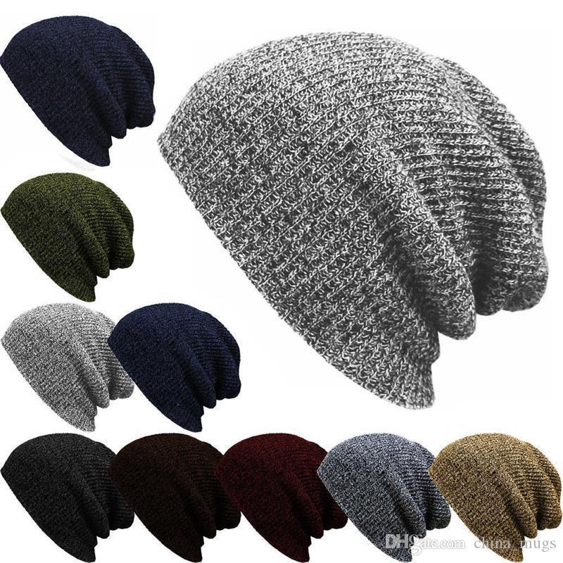 Winter Unisex Plain Knit Hat Top Level Short Plain Beanie