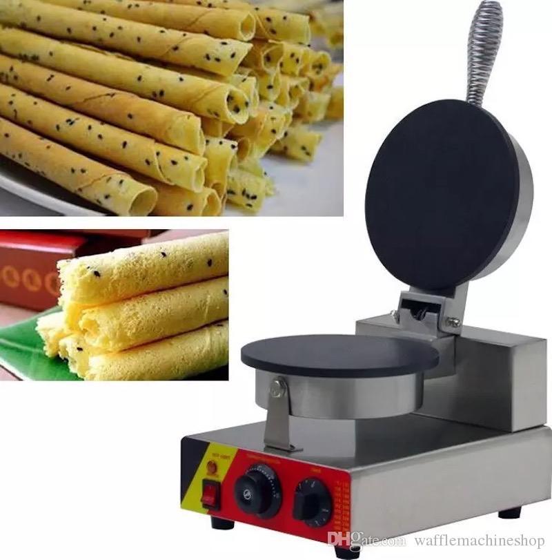 Ticari Tek Kafa Waffle Makinesi Manuel Dondurma Koni Kağıt Makinesi Makinesi Yumurta Rulo Makinesi Crisple Waffle Maker