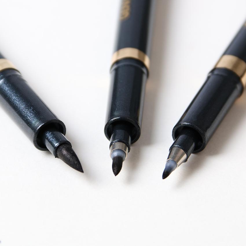 3pcs / lot 서예 소프트 브러시 중립 펜 다기능 펜 사무실 편지지 소모품 크기 sm l