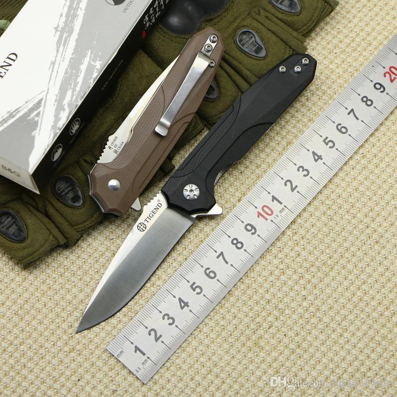 ТИГЕНД # 1818 Тактика складной нож D2 лезвие G10 + стальная ручка отдых на природе охота карман выживания Кухонные ножи инструменты edc