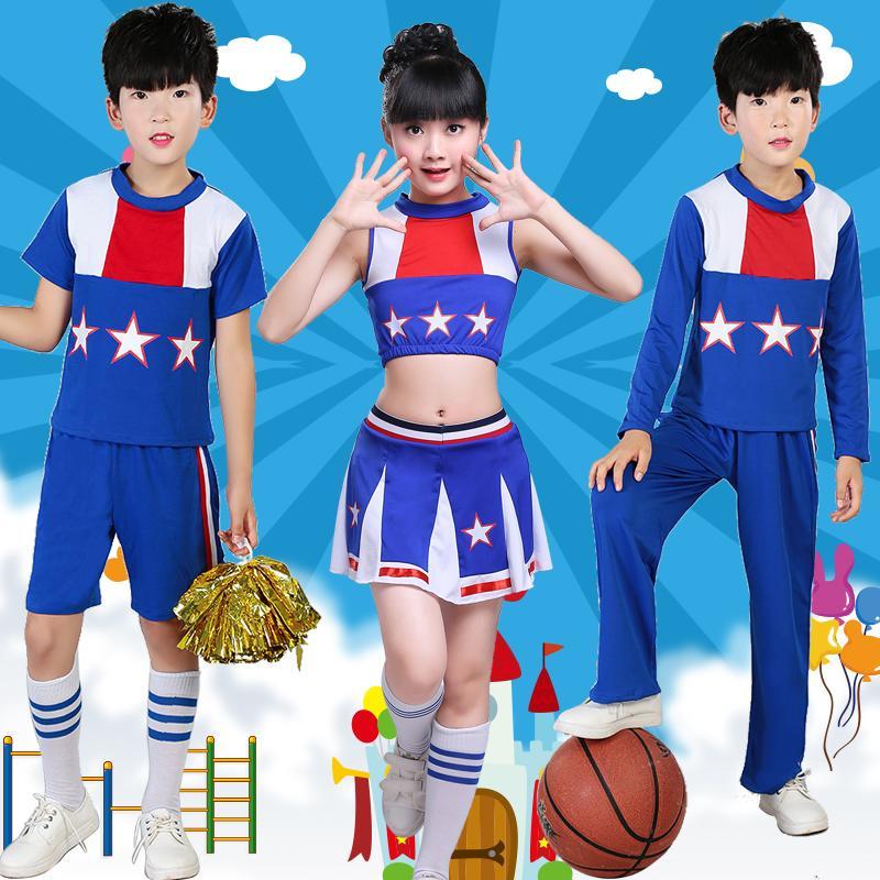 Enfants Cheerleading Costume Enfants d'âge préscolaire Aérobic Cheerleading Danse Jupe Costumes