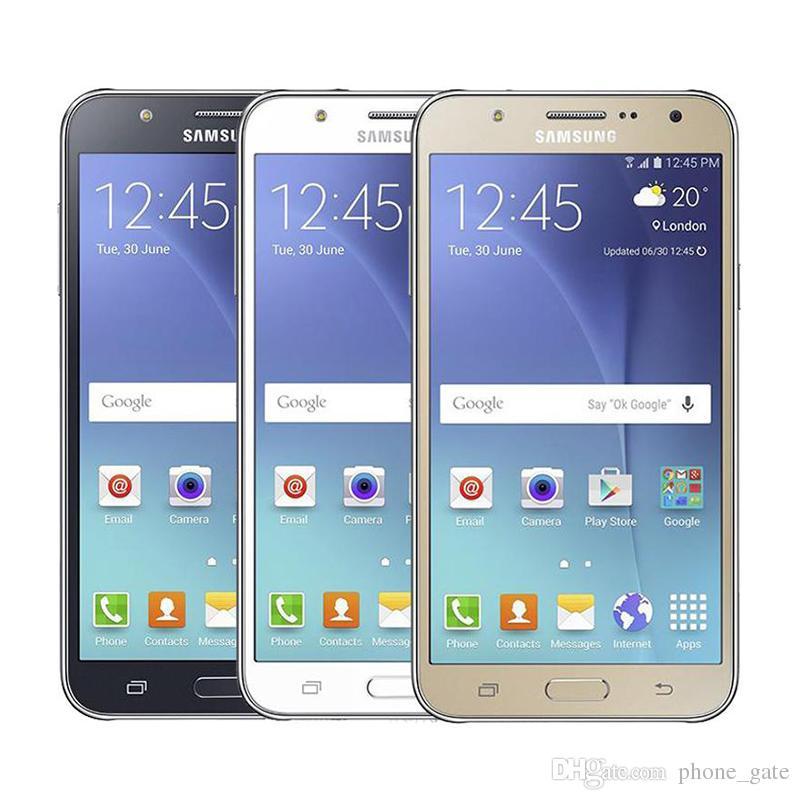تم تجديد Samsung Galaxy J7 J700F 1.5G / 16G 5.5inch Octa Core الحقيقي 4G LTE المزدوج SIM Andorid WiFi GPS Bluetooth Unlocked Smartphone