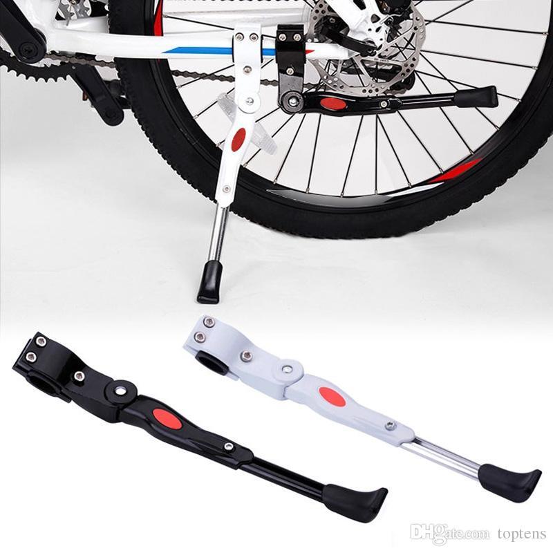 Cavalletto da bicicletta regolabile in lega di alluminio Cavalletto laterale da bicicletta 34,5-40cm Cavalletto bici da strada regolabile MTB