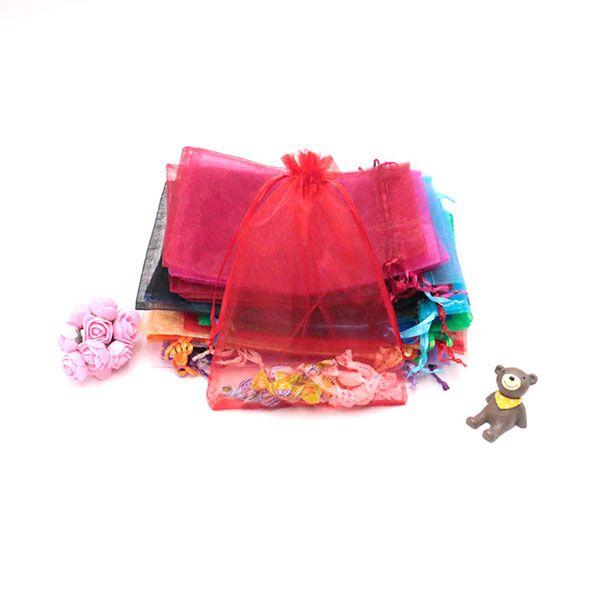Venda quente da festa de casamento do Natal do presente do favor Sacos Organza 15 * 20cm 300pcs Atacado de jóias embalagens bolsas com cordão pode Customed LOGO