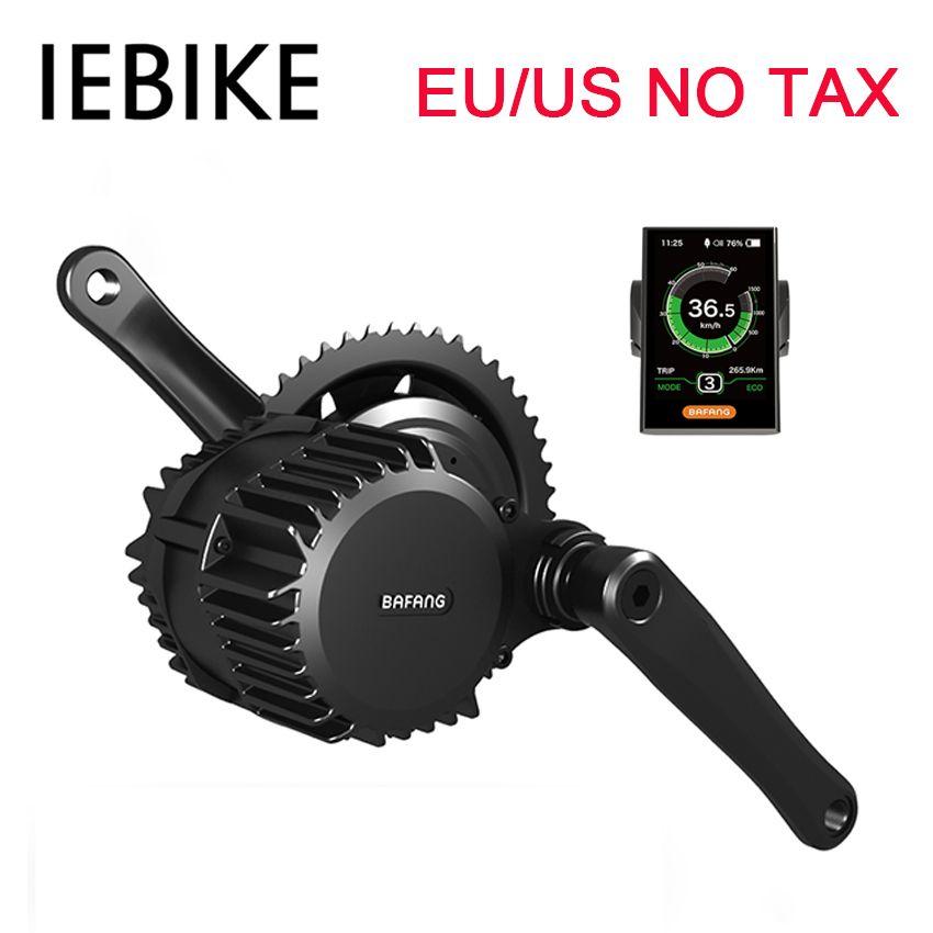 EU / US / RU Aucune taxe 48V500W Bafang BBS02 moteur sans balai mi-moteur pour kit de moteur de vélo vélo électrique bricolage e kit de conversion de vélo