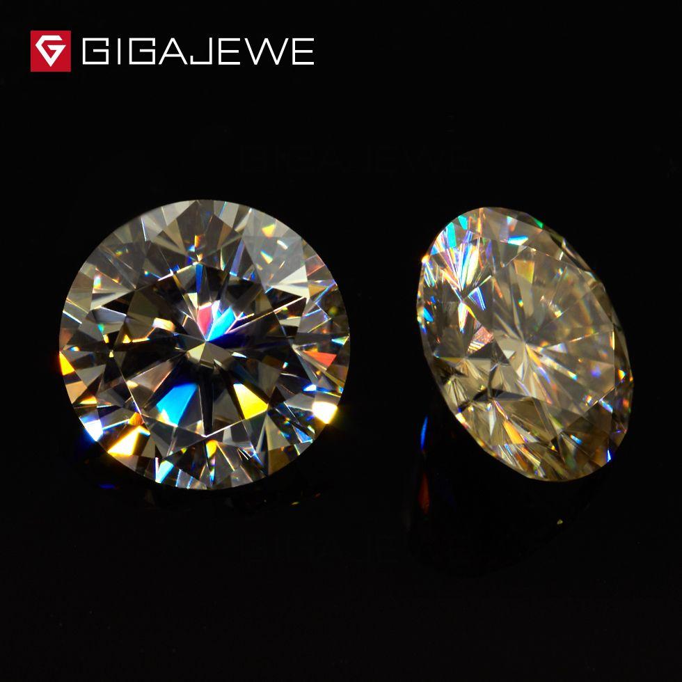 Gigajewe Moissanite желтый цвет 3,5 мм-8,2 мм бусины DIY GEM камень моассанит свободно каменный камень для модных украшений