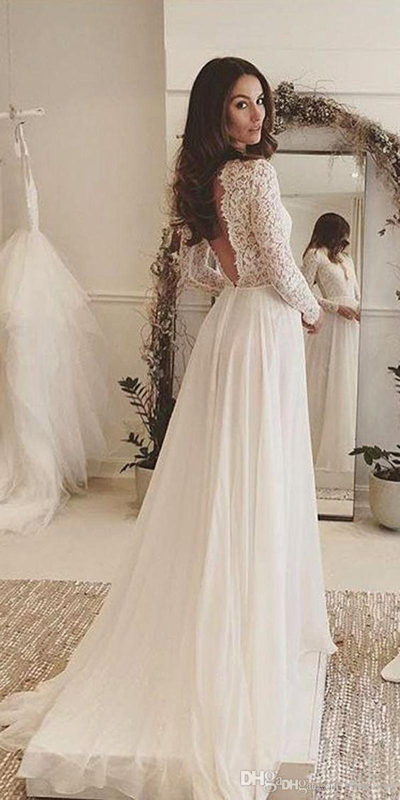 Acheter Robe De Mariée Bohème Élégante Simple