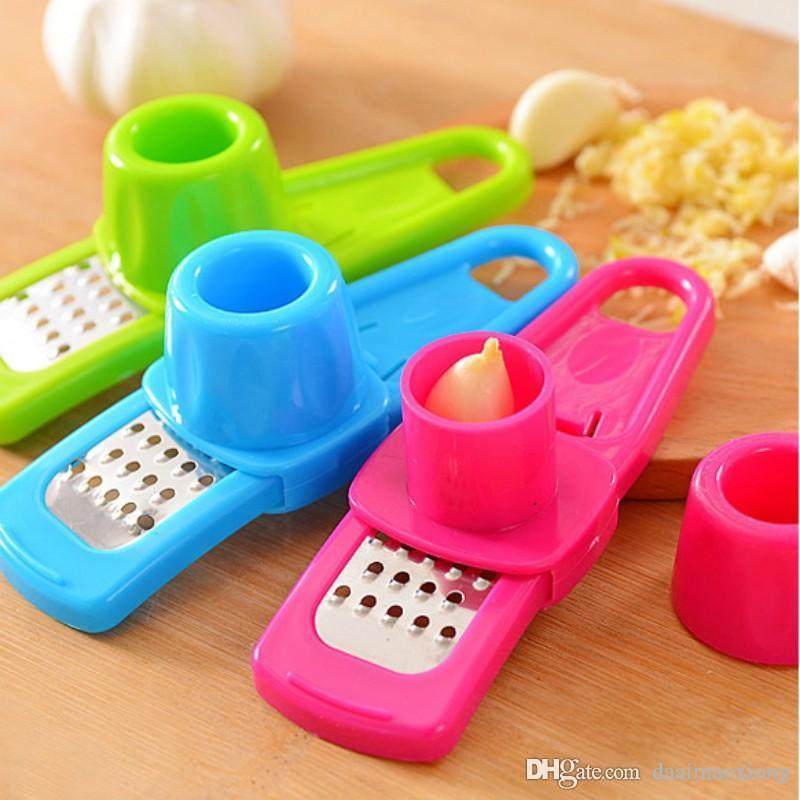 1pcs High quality multi-functional grinding the garlic Presses kitchen Fruit & Vegetable gadgets jiang qi slice cooking tools