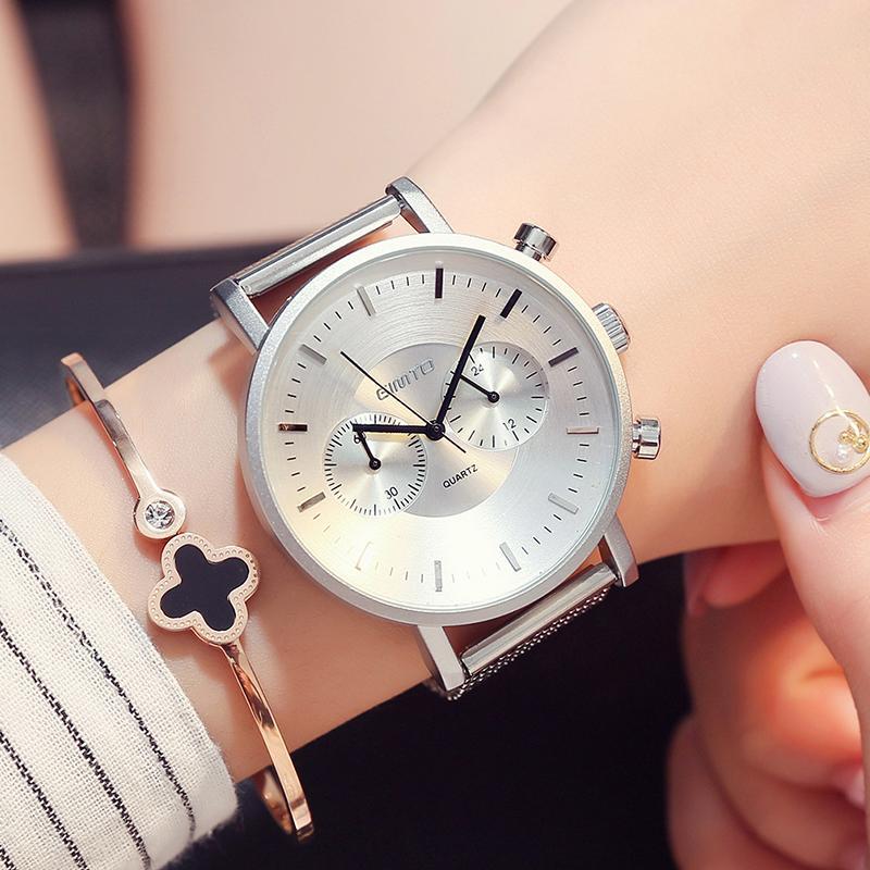 X GIMTO Brand New Femmes Sport Montre Bracelet En Acier Grand cadran Mesdames Amoureux Montres Montres Mâle Femelle Militaire Horloge Relogio Montre