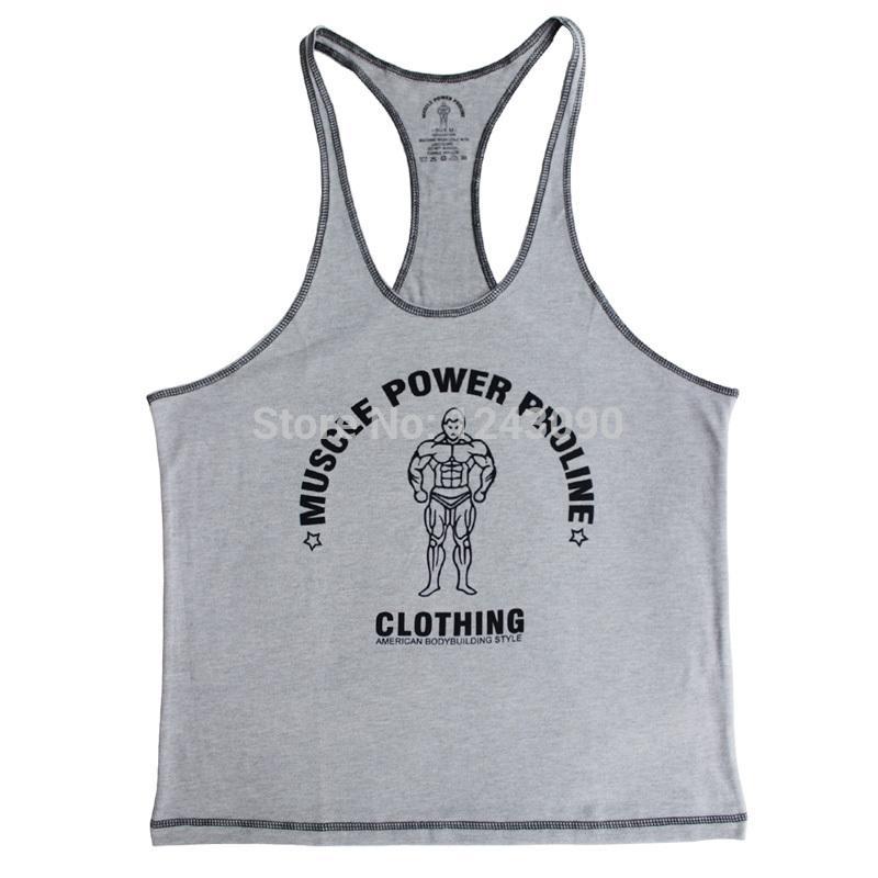 Tank Top Men Singlet Brand MPP GASP Bodybuilding Clothes Stringer Muscle Shirts jerkin Sleeveless Cotton Racerback Clothing