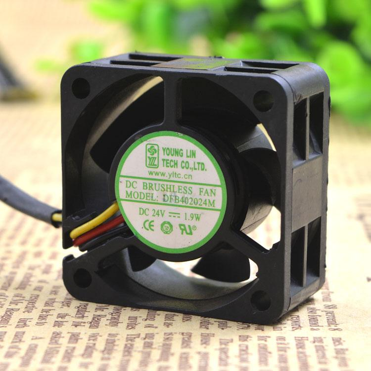 Para Yonglin DFB402024M 4CM 24V 1.9W 3-wire Inverter Fan 4020 Server Fan