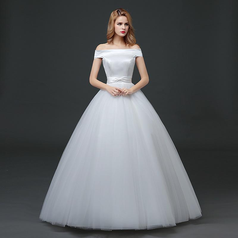 Слово shoulderYour плечи Свадебное платье долго Свадебное бальное платье Ледис вечернее платье бинты свадебное платье EmbroideryHS613