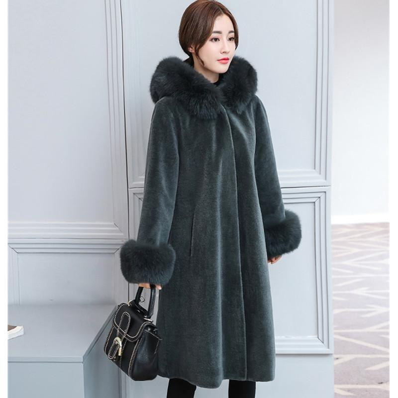 top-rated latest style 2019 discount sale 2019 YAGENZ New Product Women Faux Fur Coat Top Quality Winter Jacket Women  Young Lady Fur Collar Hooded Woolen Coat Long Section 697 From Longmian, ...