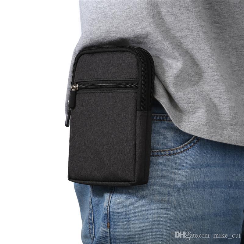 العلامة التجارية الخصر حزام حقيبة الأزياء كاوبوي القماش حقيبة الهاتف حالة 6.3 بوصة الخصر حقيبة الحقيبة 4 ألوان العالمي لسامسونج / سوني / LG / Xiaomi / هواوي
