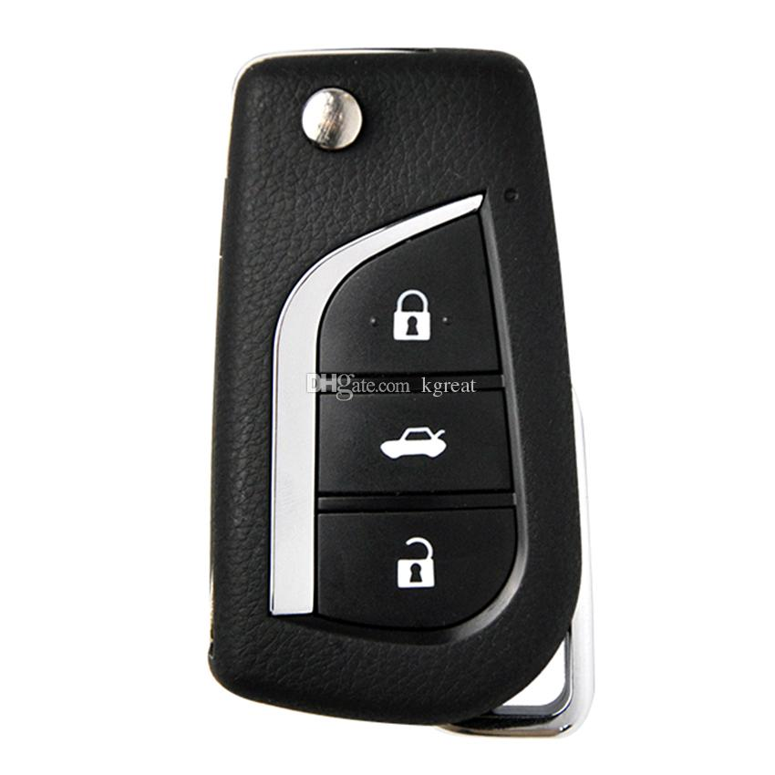Toyota style 3 button remote key B13 for KD300 and KD900 to produce any model remote