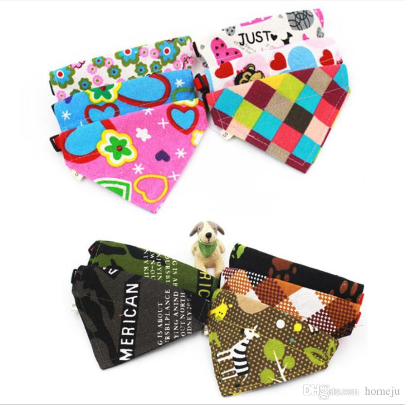5 pcs/set Pet triangle scarf dog scarf canvas collar scarf small dog saliva towel Pet Supplies Hot Sale